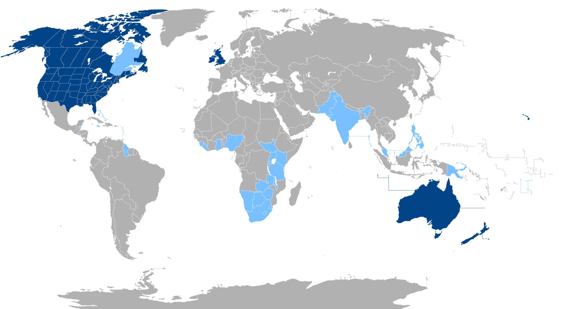 Weltkarte Dolmetscher Englisch