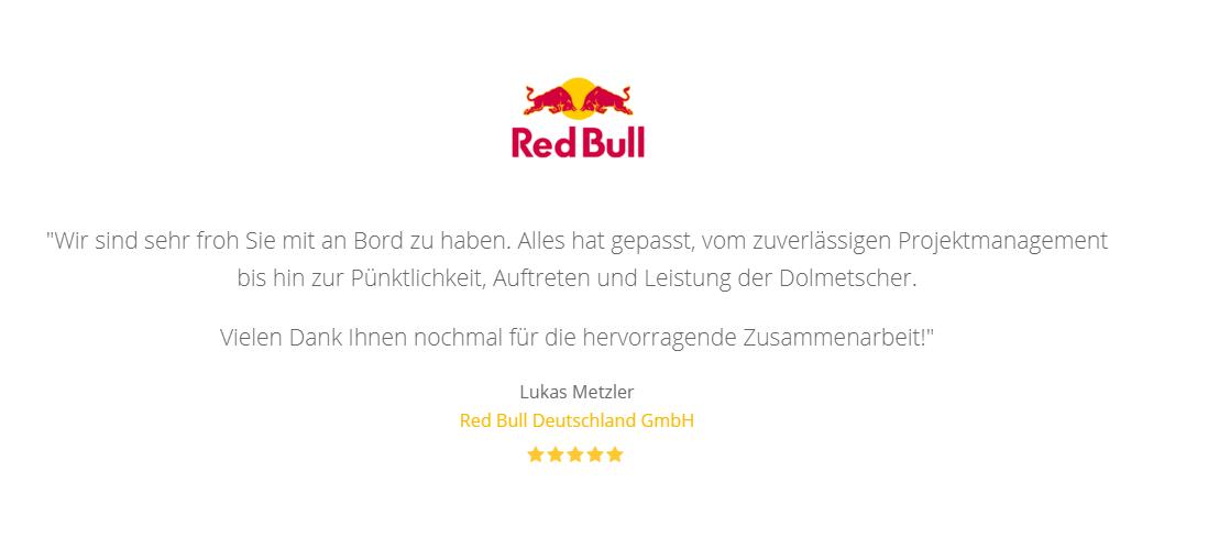 Testimonial RedBull